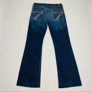 7 For All Mankind Dojo Med. Wash Flare Jeans 26x30